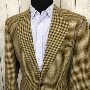 Canali 42L Tan Houndstooth 2-Button Sports Coat